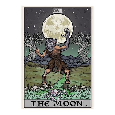 The Ghoulish Garb Design The Moon Tarot Card - Ghoulish Edition