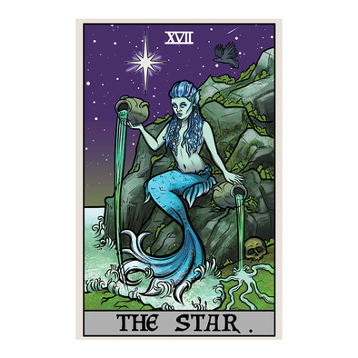 The Ghoulish Garb Design The Star Tarot Card - Ghoulish Edition