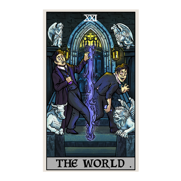 The Ghoulish Garb Design The World Tarot Card - Ghoulish Edition
