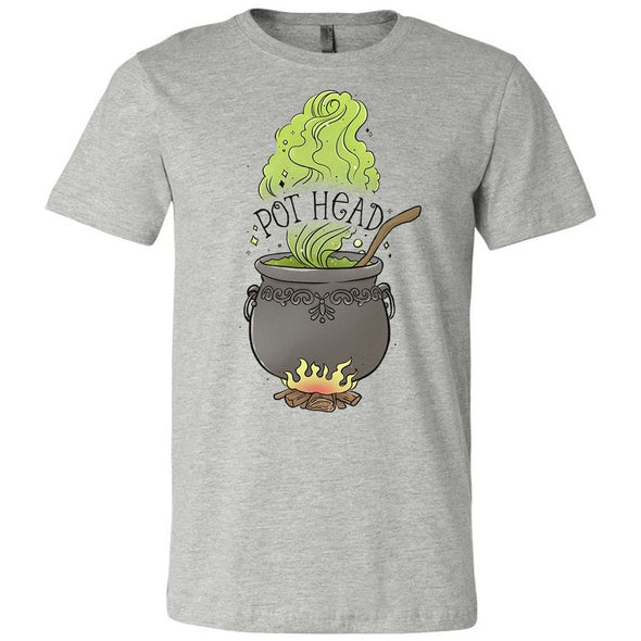 The Ghoulish Garb Graphic Tee Athletic Heather / S Pot Head T-Shirt
