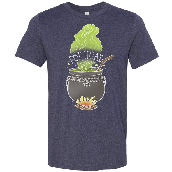 The Ghoulish Garb Graphic Tee Heather Midnight Navy / S Pot Head T-Shirt