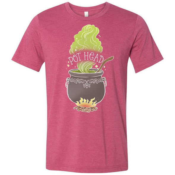 The Ghoulish Garb Graphic Tee Heather Raspberry / S Pot Head T-Shirt