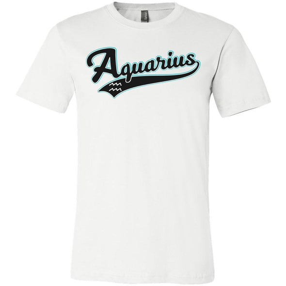 The Ghoulish Garb Graphic Tee White / S Aquarius - Baseball Style Unisex T-Shirt