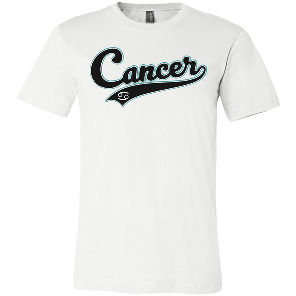 The Ghoulish Garb Graphic Tee White / S Cancer - Baseball Style Unisex T-Shirt