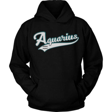 The Ghoulish Garb Black / S Aquarius - Baseball Style Unisex Hoodie