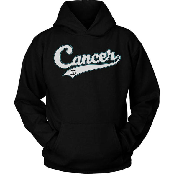 The Ghoulish Garb Hoodie Black / S Cancer - Baseball Style Unisex Hoodie