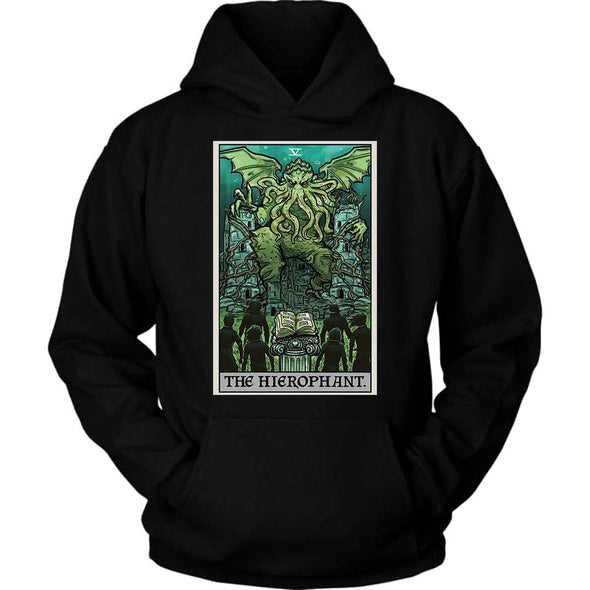 The Ghoulish Garb Hoodie Black / S The Hierophant Tarot Card - Ghoulish Edition Unisex Hoodie