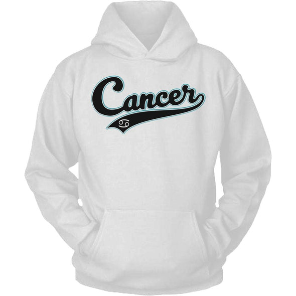 The Ghoulish Garb Hoodie White / S Cancer - Baseball Style Unisex Hoodie