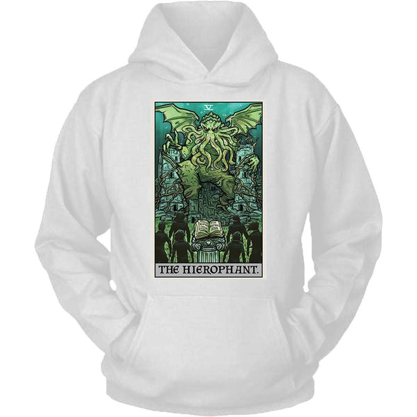 The Ghoulish Garb Hoodie White / S The Hierophant Tarot Card - Ghoulish Edition Unisex Hoodie