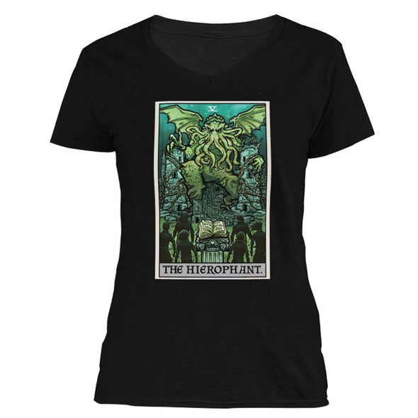 The Ghoulish Garb S The Hierophant Tarot Card - Ghoulish Edition Women's V-Neck