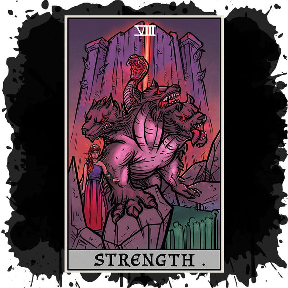The Ghoulish Garb Strength Tarot Card - Ghoulish Edition