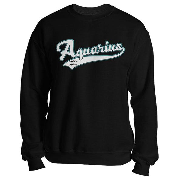 The Ghoulish Garb Sweatshirt Black / S Aquarius - Baseball Style Unisex Sweatshirt