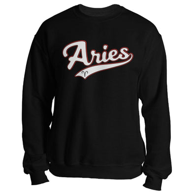 The Ghoulish Garb Sweatshirt Black / S Aries - Baseball Style Unisex Sweatshirt