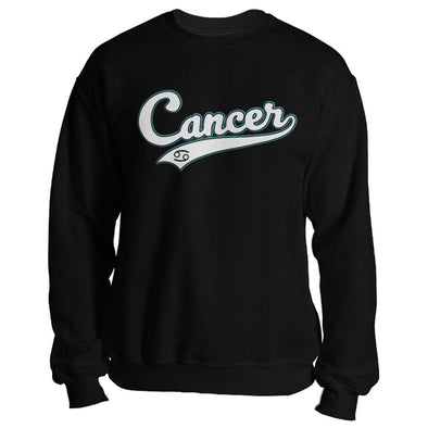 The Ghoulish Garb Sweatshirt Black / S Cancer - Baseball Style Unisex Sweatshirt