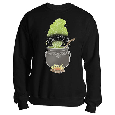 The Ghoulish Garb Sweatshirt Black / S Pot Head Sweatshirt