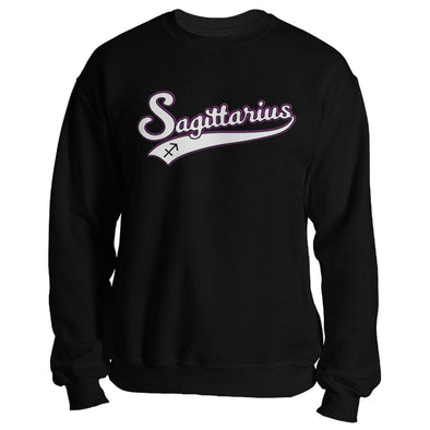 The Ghoulish Garb Sweatshirt Black / S Sagittarius - Baseball Style Unisex Sweatshirt