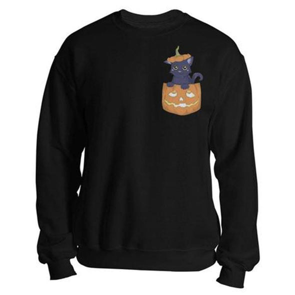 The Ghoulish Garb Sweatshirt Black / S The Cat's Out O' The Jack Sweatshirt
