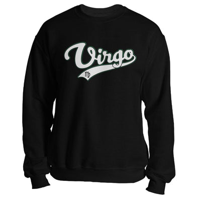 The Ghoulish Garb Sweatshirt Black / S Virgo - Baseball Style Unisex Sweatshirt