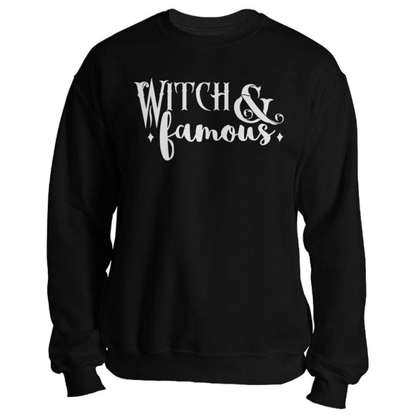 The Ghoulish Garb Sweatshirt S Witch and Famous Unisex Sweatshirt