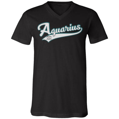 The Ghoulish Garb V-Necks Black / S Aquarius - Baseball Style Unisex V-Neck