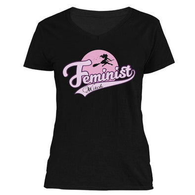 The Ghoulish Garb V-Necks Black / S Feminist Witch Women's V-Neck