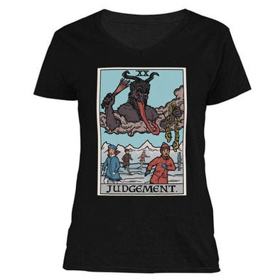 The Ghoulish Garb V-Necks Black / S Judgement By Krampus Women's V-Neck