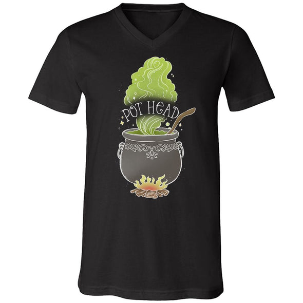 The Ghoulish Garb V-Necks Black / S Pot Head V-Neck Shirt