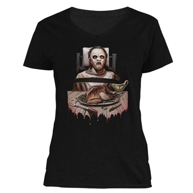 The Ghoulish Garb V-Necks Black / S Thanksgrieving Women's V-Neck