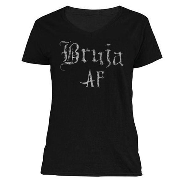 The Ghoulish Garb V-Necks S Bruja AF Women's V-Neck