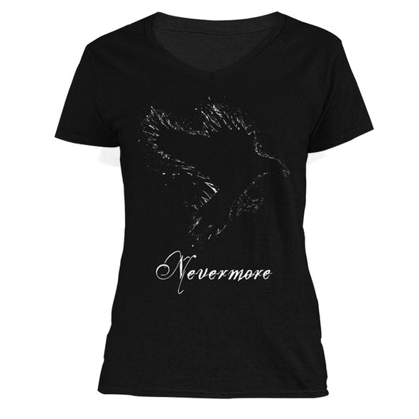 The Ghoulish Garb V-Necks S Nevermore Women's V-Neck