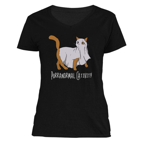 The Ghoulish Garb V-Necks S Purranormal Cativity Women's V-Neck