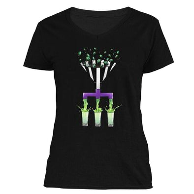 The Ghoulish Garb V-Necks S The Beetle Juicer Women's V-Neck