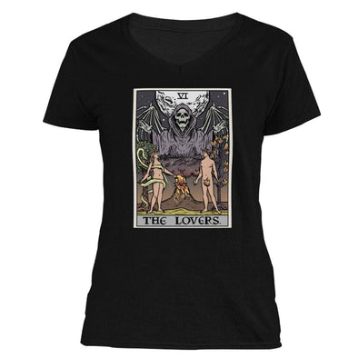 The Ghoulish Garb V-Necks S The Lovers Tarot Card - Ghoulish Edition Women's V-Neck