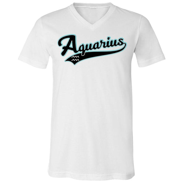 The Ghoulish Garb V-Necks White / S Aquarius - Baseball Style Unisex V-Neck