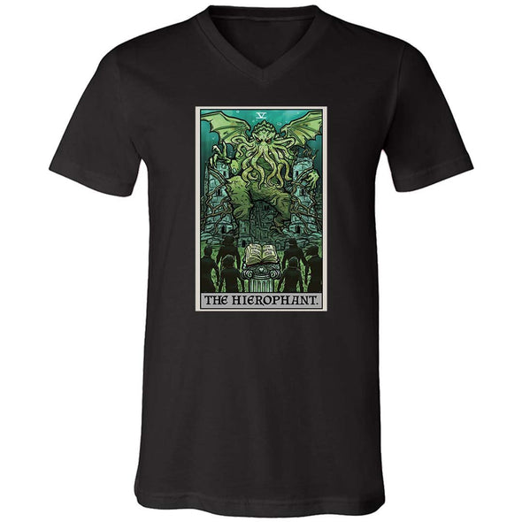 The Ghoulish Garb XS The Hierophant Tarot Card - Ghoulish Edition Unisex V-Neck