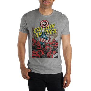 Marvel Captain America Crew Neck Short Sleeve T shirt