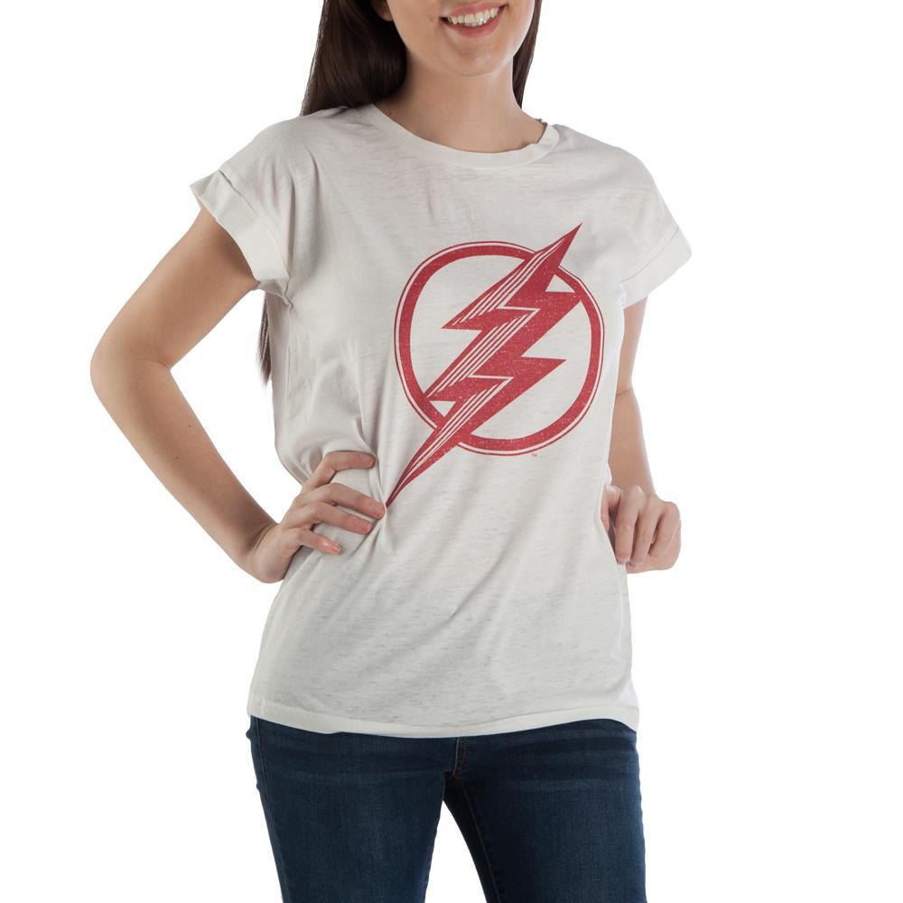 Flash TShirt Superhero Apparel Juniors Graphic Tee