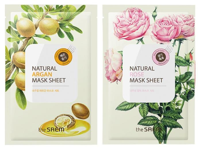 The saem Natural Facial Mask Sheet 21ml x 13 Sheets