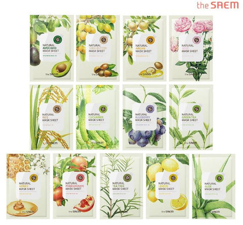 [ the SAEM ] Natural Facial Mask Sheet 21ml - 12 treatment
