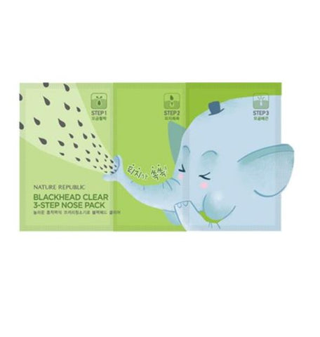 [ Nature Republic ] Blackhead Clear 3 Step Nose Strip