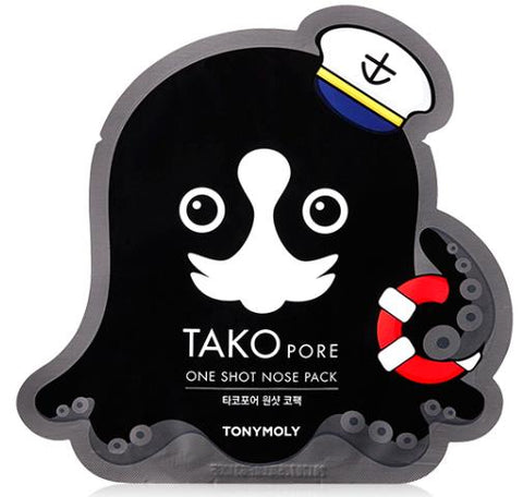 [ TONYMOLY ] Tako Pore One Shot Nose Pack (Peel-off)