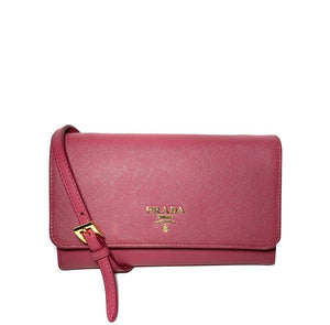 Saffiano Wallet Crossbody Bag