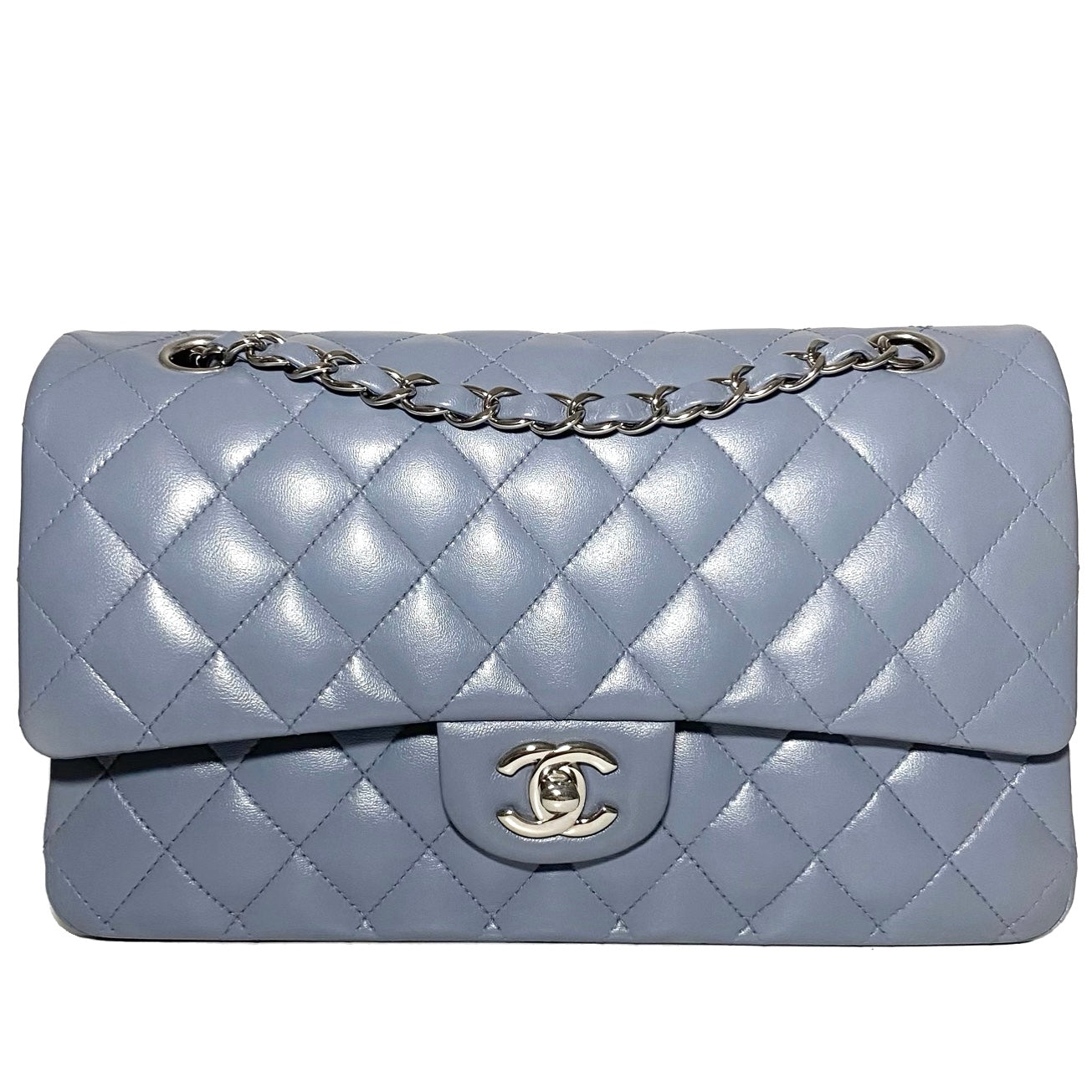 Lambskin Quilted Double Flap Bag