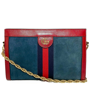 Suede Small Ophidia Bag