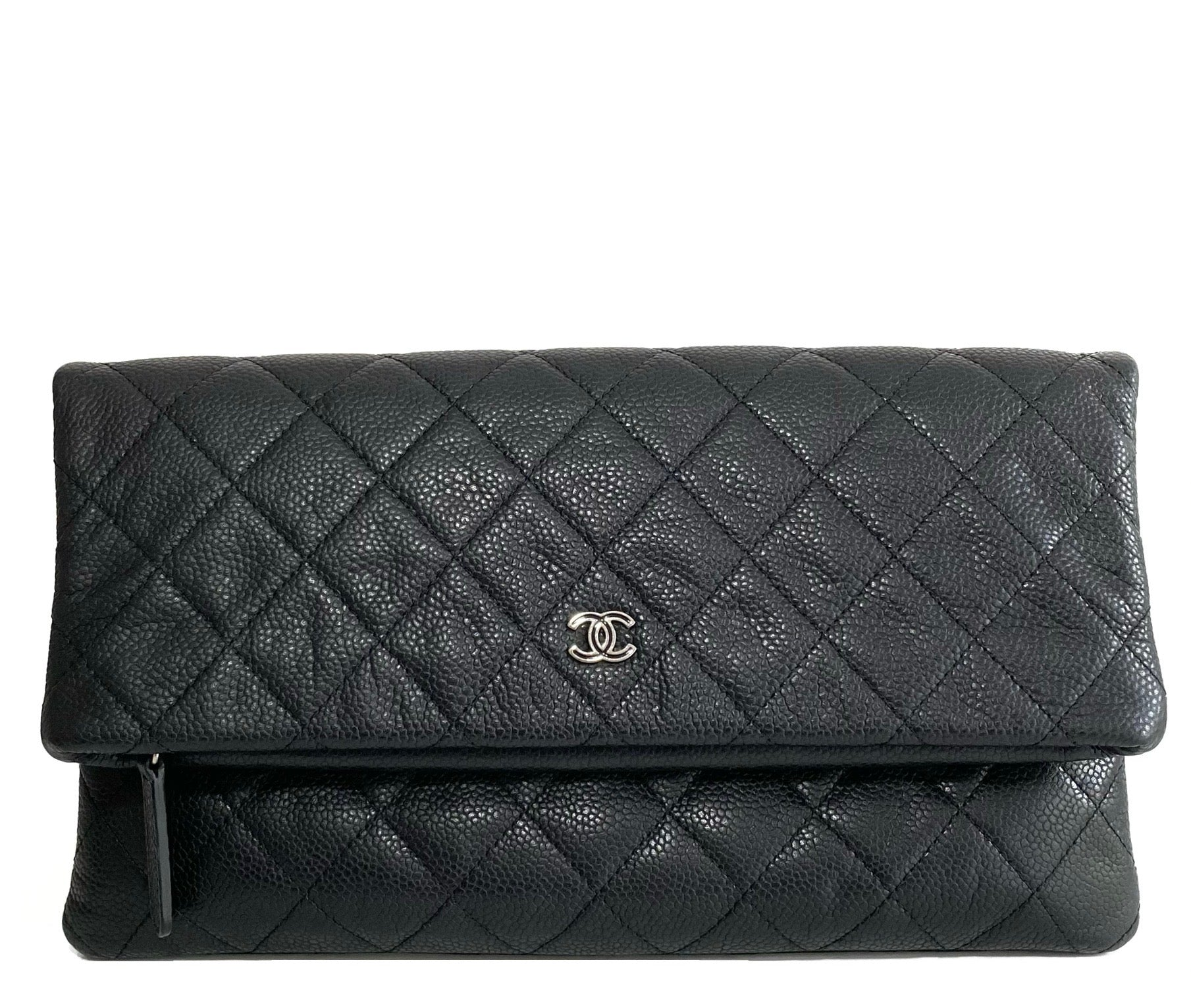 Caviar Quilted Flap Clutch