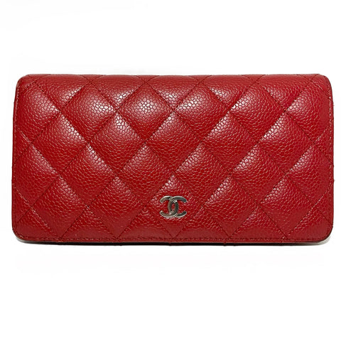 Caviar Quilted Flap Wallet