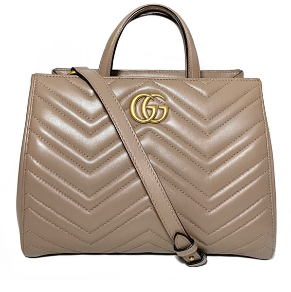 Calfskin Small GG Marmont Handle Bag