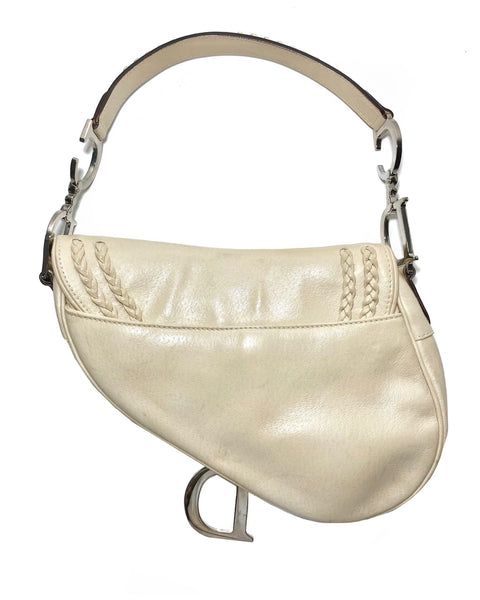 Braided Calfskin Leather Saddle Bag