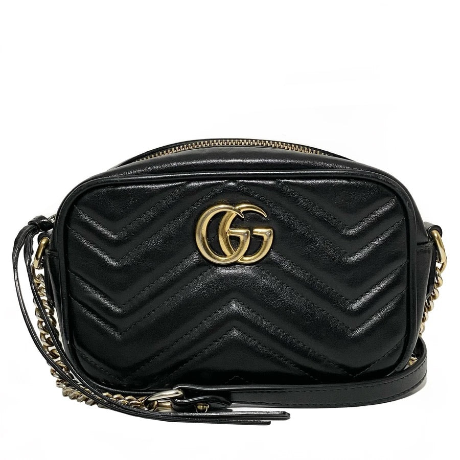Calfskin GG Marmont Mini Camera Bag