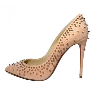 Veau Velours Studded Escarpic 100 Pumps 40.5